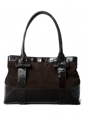 FURLA Handtasche Suede/Leder
