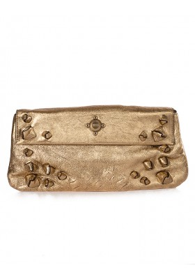 BOSS Clutch metallic gold