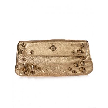 BOSS Clutch metallic gold