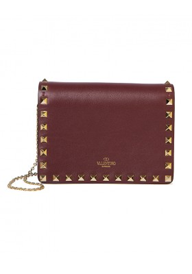 VALENTINO Rockstud Pouch Wallet on Chain