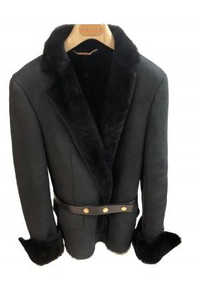 Gucci Lammfelljacke schwarz