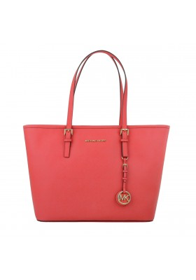 Michael KORS Jet Set Travel Shopping bag. Coral. NEU.