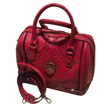 GUESS Handtasche Leder rot