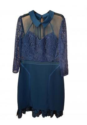 TREE FLORR Kleid blau