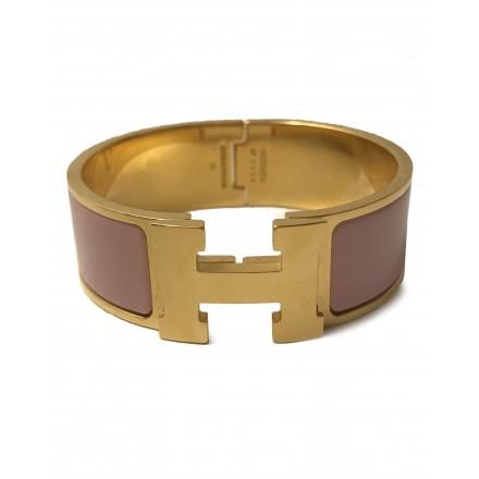 HERMÈS Clic Clac H altrosa gold