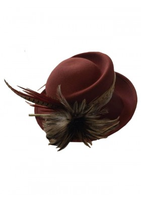 Eleganter, handgefertigter Damenhut mit Federschmuck