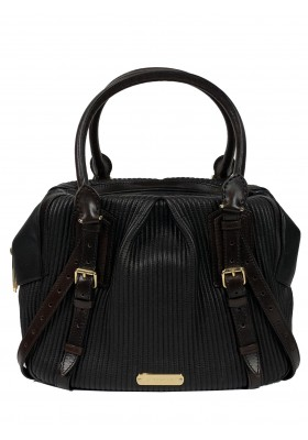 BURBERRY Handtasche Leder schwarz.