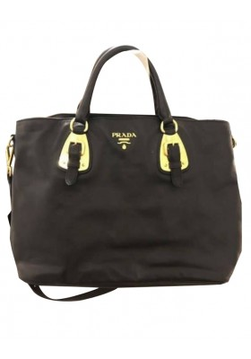 PRADA Lederhandtasche schwarz NEU