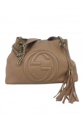 Gucci Soho Shopper beige