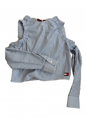 HILFIGER COLLECTION Blusen-Top gestreift