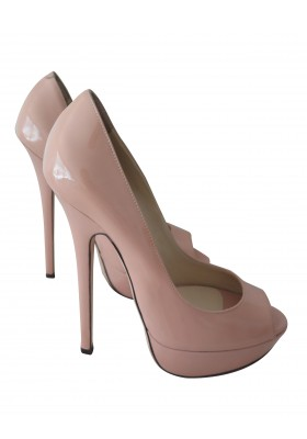 JIMMY CHOO Vibe Peep Toe Lackleder blush Gr. 37
