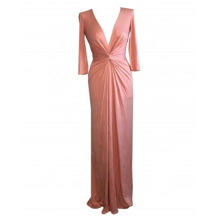 ISSA Abendkleid. Coral. Bodenlang.