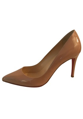 CHRISTIAN LOUBOUTIN Pigalle Patent 85 nude