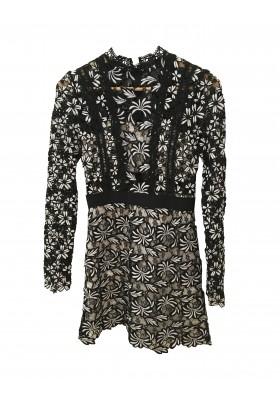SELF-PORTRAIT Kleid schwarz-weiss Gr. 36 NEU