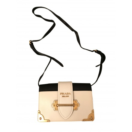 PRADA Cahier Bag black cream