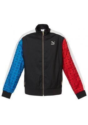 MCM x Puma Jacke schwarz blau rot. Gr. L