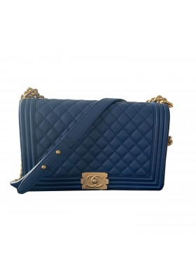 Chanel Gross Boy Bag blau gold