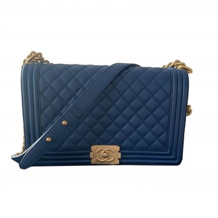 Chanel Gross Boy Bag blau gold