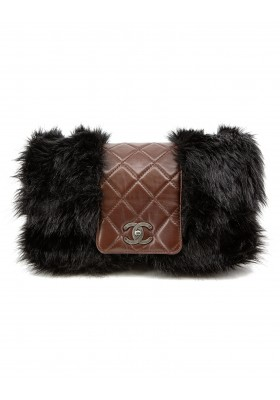Lammleder & Fake Fur Flap Bag
