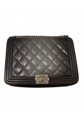 CHANEL Boy Bag large degrade leather