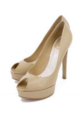 DIOR Lackleder High Heel Peeptoes