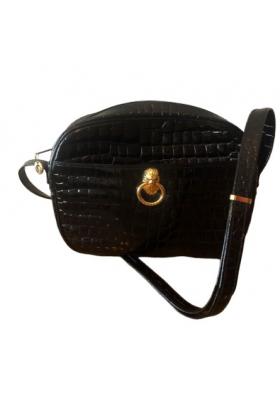 POURCHET Lederhandtasche schwarz