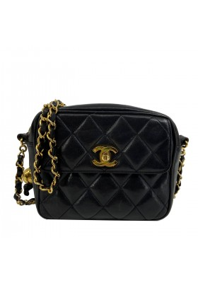 Chanel black Camera Flap Bag