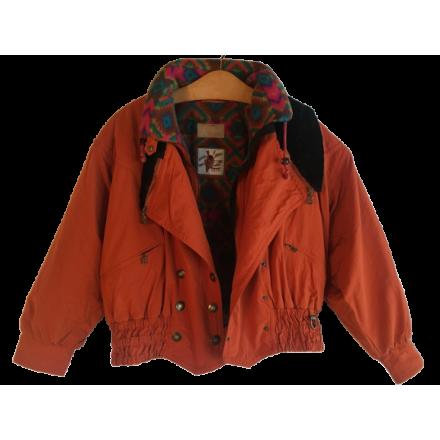 BOGNER Skijacke Damen Vintage orange Kult Gr. 38