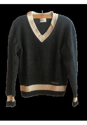 LUIS TRENKER Woll-Mix Pullover Strick Gr. M