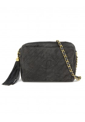 CHANEL Camera Bag Tassle Suede