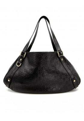 GUCCI Guccissima Hobo Bag schwarz