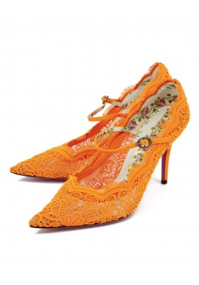 Gucci Neon Pumps Orange