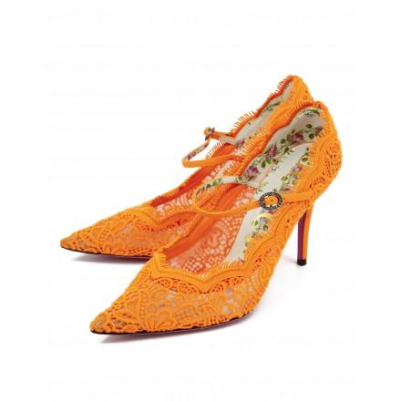 Gucci Neon Pumps Orange