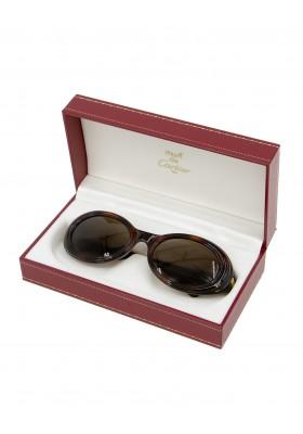 CARTIER Sonnenbrille Hornoptik
