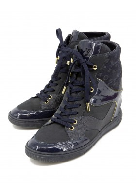 LOUIS VUITTON Sneaker Wedges blau