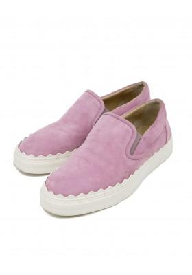 CHLOE Lauren Wildleder Sneakers rosa