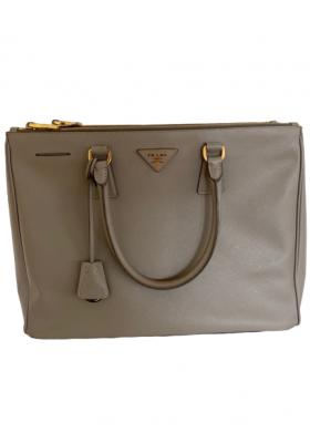 PRADA SAFFIANO LUX Galleria Tasche in der Farbe Taupe inkl. Riemen