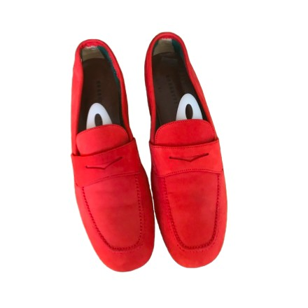 FRATELLI ROSSETTI Wildleder Schuhe Gr. 38.5 Rot. Sehr guter Zustand.