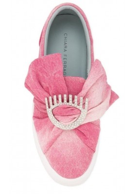 CHIARA FERRAGNI Pink Slip on Sneaker. Sehr guter Zustand.