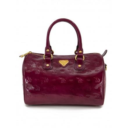 MAISON MOLLERUS Lila Lackleder Bowling Bag