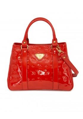 MOLLERUS Lack Handtasche rot
