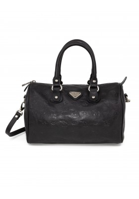 MAISON MOLLERUS Bowling Bag in schwarzem Leder