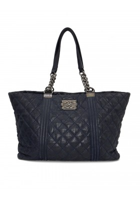 CHANEL Boy Tote bag shopper navy