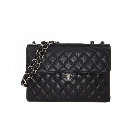 CHANEL Jumbo Caviar Classic Flap Bag
