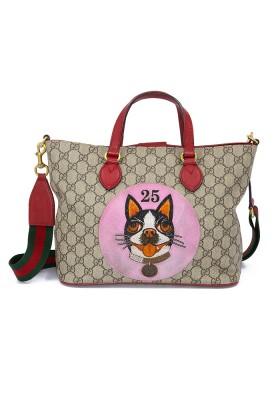 GUCCI GG Supreme Guccissima Dog Stitch Bag. Akzeptabler Zustand