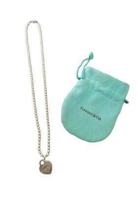 TIFFANY & Co. Return to Tiffany Herz-Halskette 925 Silber. Guter Zustand
