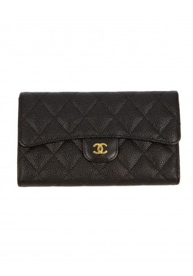 CHANEL grosses Classic Portemonnaie Caviar Full Set
