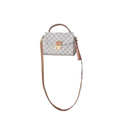 LOUIS VUITTON Croisette Pochette / Crossbody Bag Damier Azur