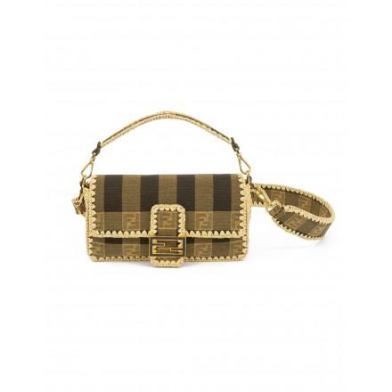 FENDI FF Logo Bast Baguette Tasche mit Schulterstrap Collection 2020 braun. Sehr guter Zustand