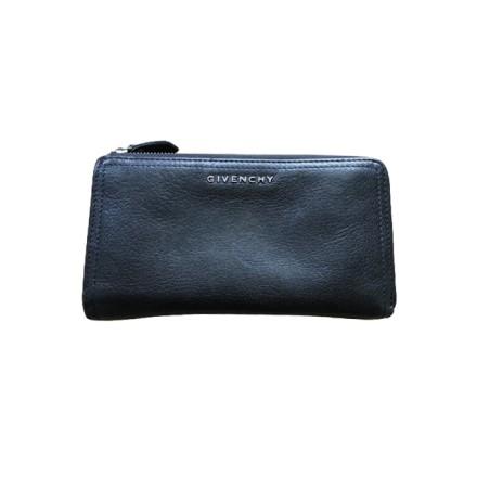 GIVENCHY Pandora Zip Portemonnaie Leder schwarz. Guter Zustand